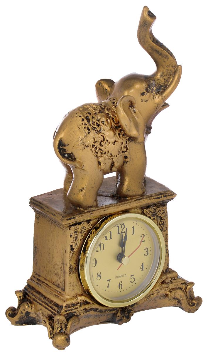 Часы настольные Русские Подарки Слон, 12 х 7 х 20 см. 5935959359