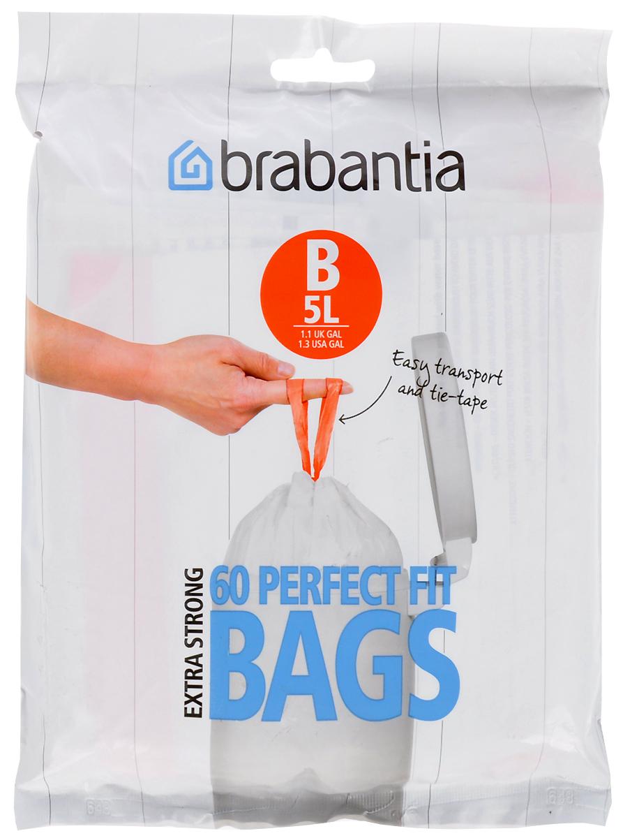 Мешки для мусора Brabantia, 5 л, 60 шт. 348969348969Удобно и быстро вкладываются и достаются из бака. Эстетичный вид – идеально подходят по размеру к мусорным бакам Brabantia, мешок не выступает наружу. Уникальная цветовая маркировка позволяет выбрать мешки нужного размера. Вентиляционные отверстия для удобства вкладывания в бак. Изготовлены из особо прочного полиэтилена (HDPE). Легко затягиваются и переносятся – специальная лента для стягивания горловины. Упаковка: 60 мешков в рулоне.