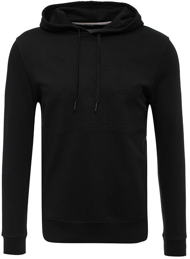 Толстовка мужская Calvin Klein Jeans, цвет: черный. J30J302280_0990. Размер XL (48/50)J30J302280_0990Толстовка мужская Calvin Klein Jeans выполнена из натурального хлопка. Модель с капюшоном и длинными рукавами.