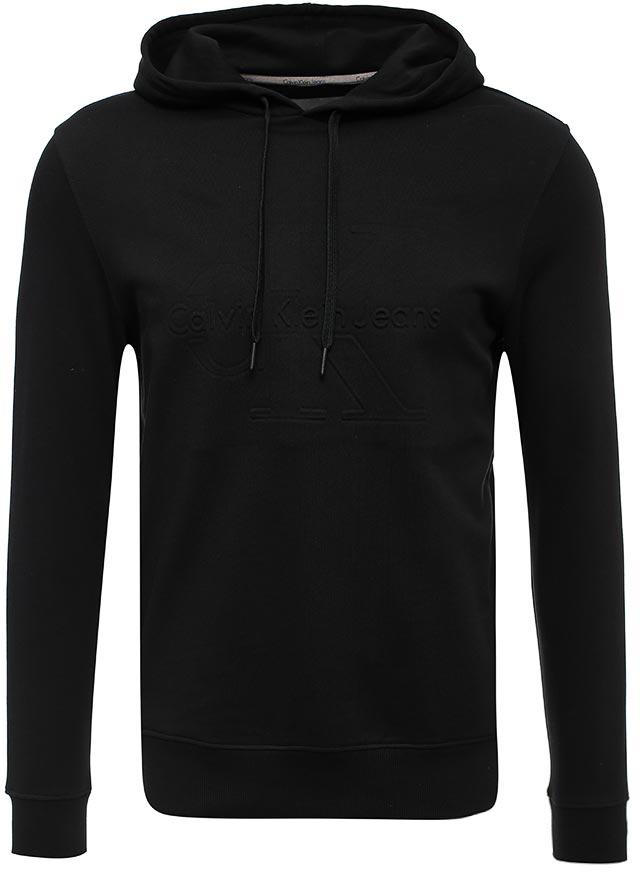Толстовка мужская Calvin Klein Jeans, цвет: черный. J30J302280_0990. Размер XL (48/50) футболка женская calvin klein jeans цвет бежевый j20j204833 размер xl 48 50