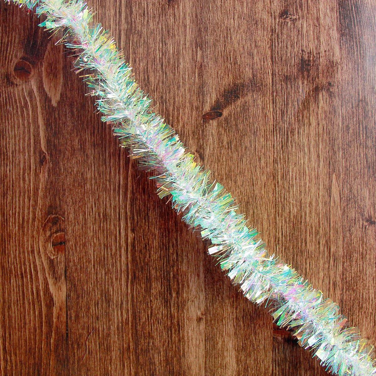 Мишура новогодняя Перламутровые блики, диаметр 4,5 см, длина 200 см2363867Новогодняя мишура, выполненная из ПВХ, поможет вам украсить свой дом к предстоящим праздникам. Новогодняя елка с таким украшением станет еще наряднее. Новогодней мишурой можно украсить все, что угодно - елку, квартиру, дачу, офис - как внутри, так и снаружи. Можно сложить новогодние поздравления, буквы и цифры, мишурой можно украсить и дополнить гирлянды, можно выделить дверные колонны, оплести дверные проемы.