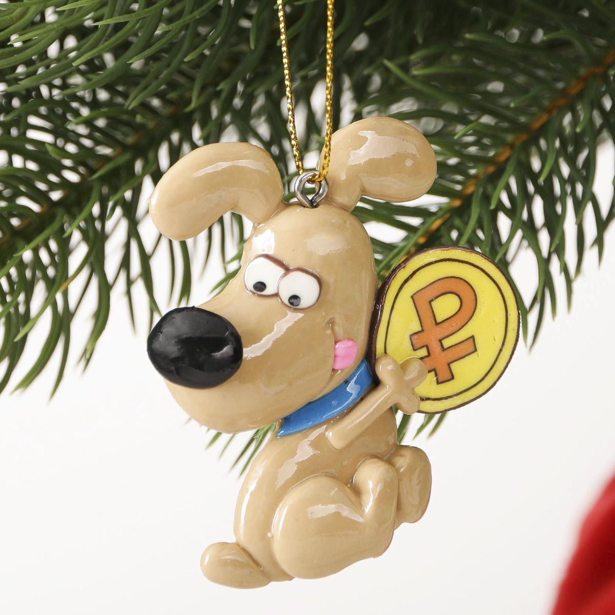 Украшение новогоднее подвесное Денежного года, 6 х 6,5 см2323285Новогоднее украшение, выполненное из полирезина, отлично подойдет для декорации вашего дома и новогодней ели. С помощью специальной петельки украшение можно повесить в любом понравившемся вам месте. Но, конечно, удачнее всего оно будет смотреться на праздничной елке.Елочная игрушка - символ Нового года. Она несет в себе волшебство и красоту праздника. Такое украшение создаст в вашем доме атмосферу праздника, веселья и радости.