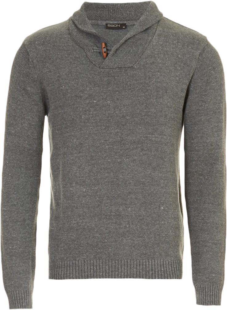 Джемпер мужской Baon, цвет: серый. B637561_Grey Melange. Размер XL (52)B637561_Grey Melange