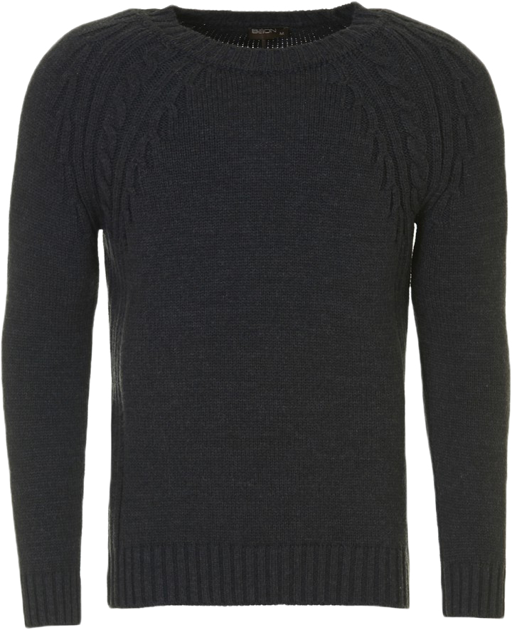 Джемпер мужской Baon, цвет: серый. B637550_Marengo Melange. Размер XL (52) блуза baon baon ba007ewwam81