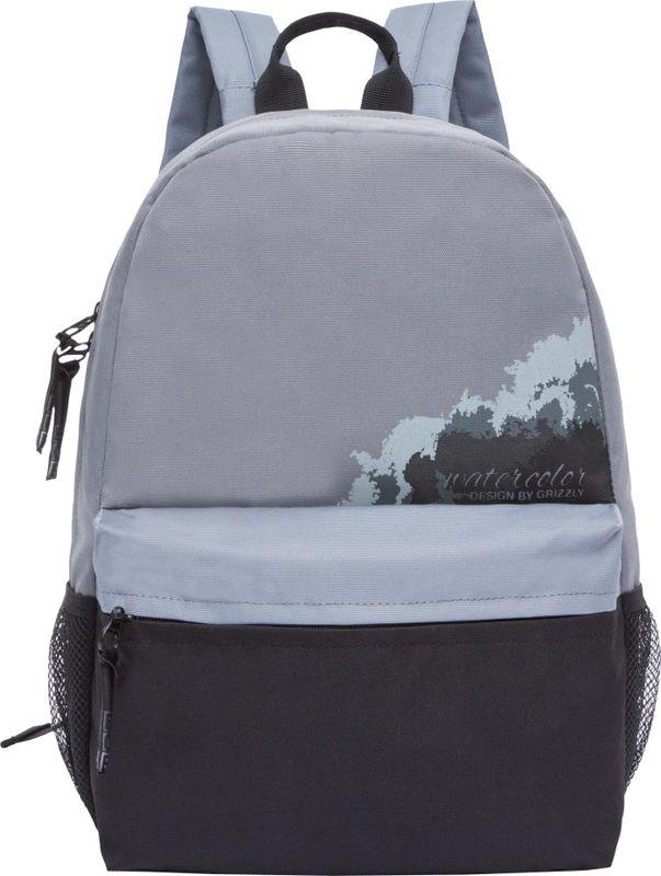 Рюкзак молодежный Grizzly, цвет: серый, 13,5 л. RL-855-3/2RL-855-3/2Рюкзак молодежный Grizzly. Рюкзак молодежный, одно отделение, объемный карман на молнии на переднейстенке, боковые карманы из сетки, внутренний карман, укрепленная спинка,карман быстрого доступа на задней стенке, дополнительная ручка-петля,укрепленные лямки. Объем: 13,5 л.