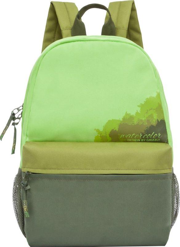 Рюкзак молодежный Grizzly, цвет: светло-зеленый, 13,5 л. RL-855-3/3RL-855-3/3Рюкзак молодежный Grizzly. Рюкзак молодежный, одно отделение, объемный карман на молнии на переднейстенке, боковые карманы из сетки, внутренний карман, укрепленная спинка,карман быстрого доступа на задней стенке, дополнительная ручка-петля,укрепленные лямки. Объем: 13,5 л.