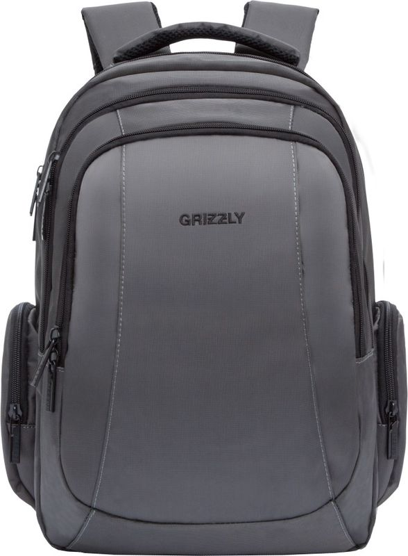 Рюкзак молодежный Grizzly, цвет: серый, 18,5 л. RU-700-2/4RU-700-2/4Рюкзак молодежный Grizzly, цвет: серый, 18,5 л. RU-700-2/4. Рюкзак молодежный, три отделения, карман на молнии на передней стенке,объемные боковые карманы на молнии, внутренний карман на молнии, внутреннийсоставной пенал-органайзер, внутренний укрепленный карман для ноутбука,анатомическая спинка, мягкая укрепленная ручка, нагрудная стяжка-фиксатор,укрепленные лямки.