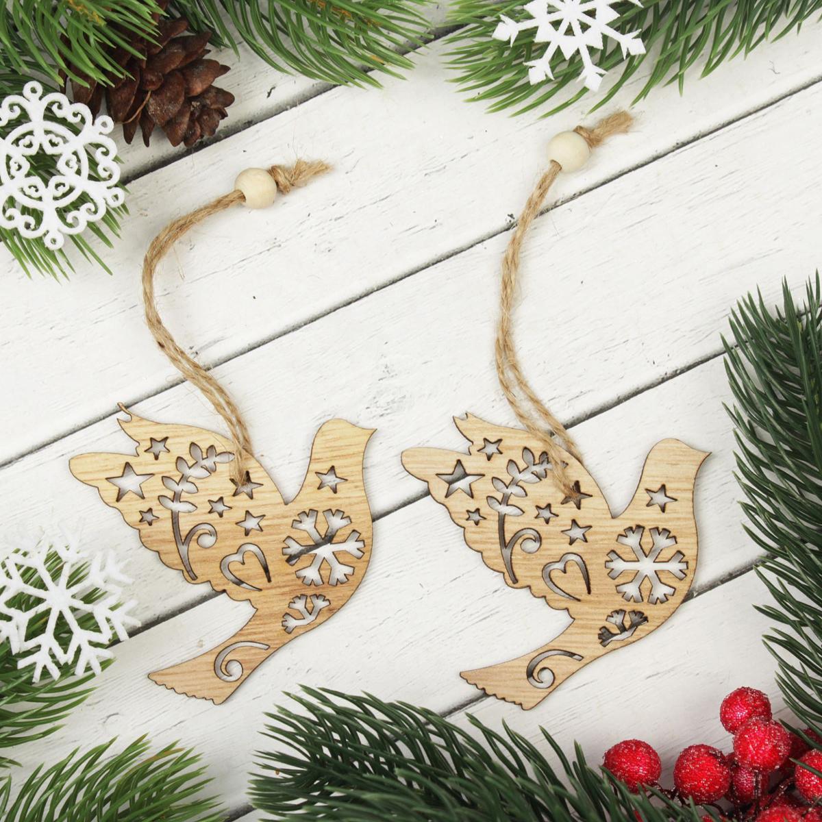 Подвеска новогодняя  Снежная птица, 2 шт2303255Невозможно представить нашу жизнь без праздников! Мы всегда ждем их и предвкушаем, обдумываем, как проведем памятный день, тщательно выбираем подарки и аксессуары, ведь именно они создают и поддерживают торжественный настрой. Это отличный выбор, который привнесет атмосферу праздника в ваш дом!