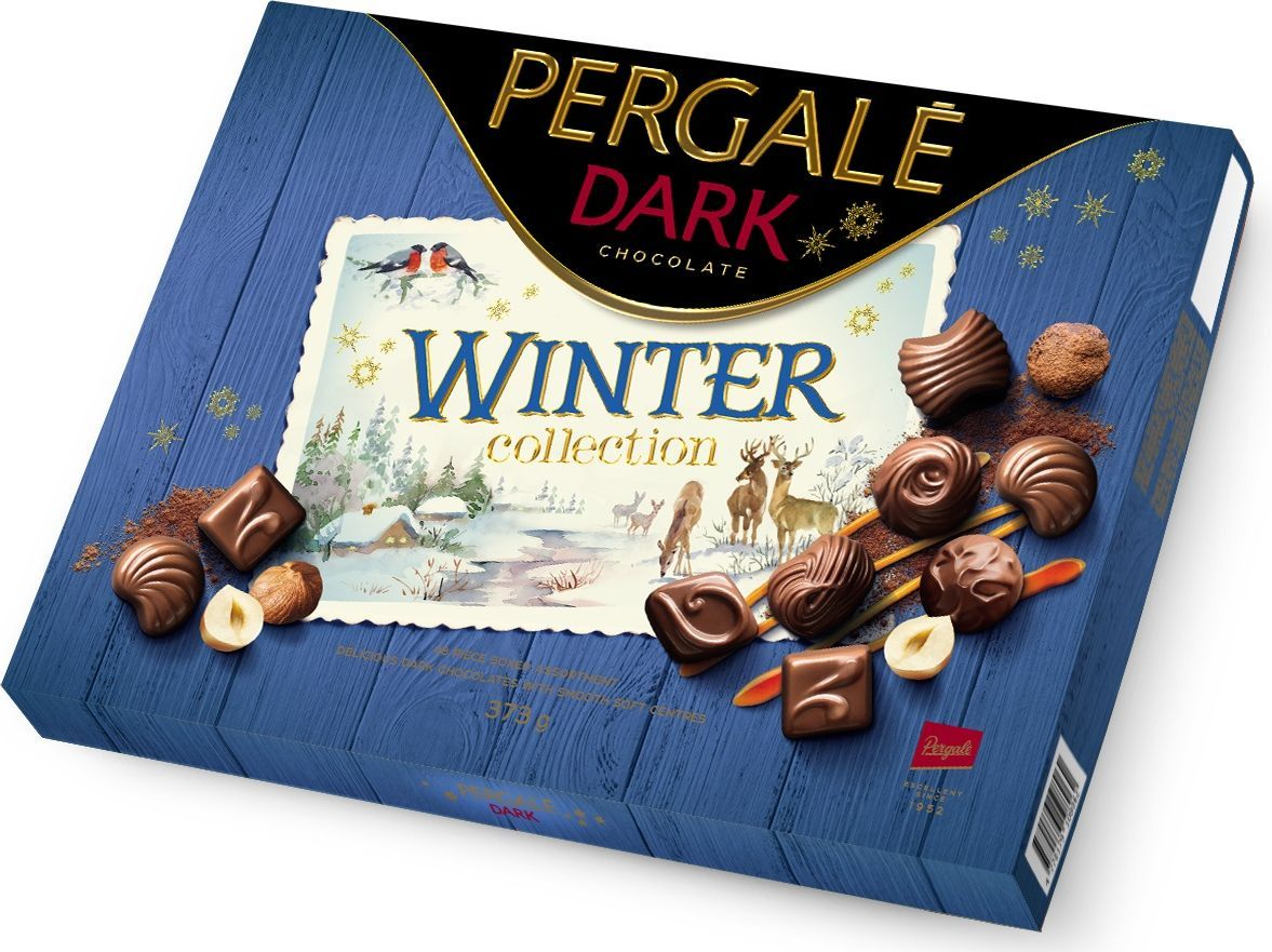 Pergale Winter Collection набор конфет из темного шоколада, 373 г pergale winter collection набор конфет из молочного шоколада 125 г