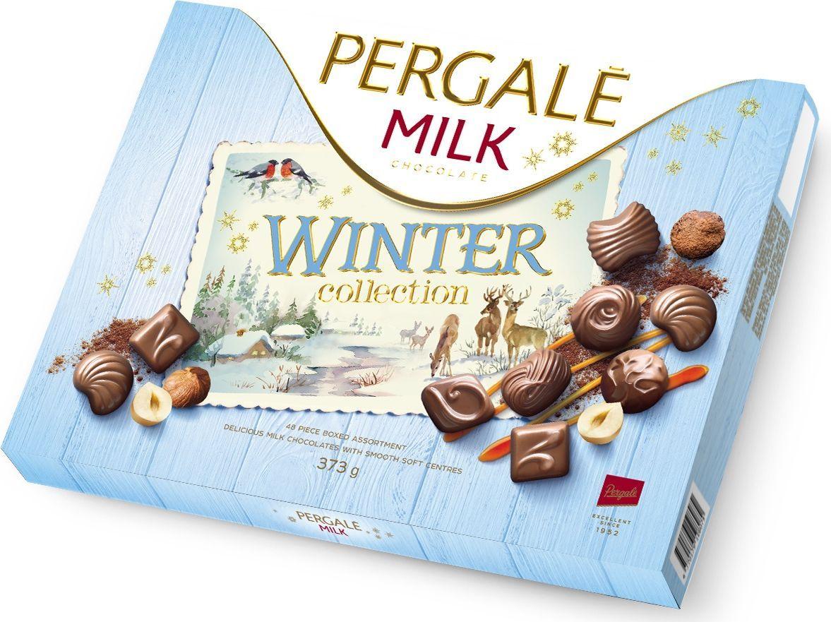 Pergale Winter Collection набор конфет из молочного шоколада, 373 г10807Тщательно подобранные и превосходно сбалансированные вкусы в уютной коробке рождественских конфет. Начинки из шоколада, карамели, трюфелей и фундука в оболочке из качественного молочного шоколада украсят и внесут оживление в любой праздник.