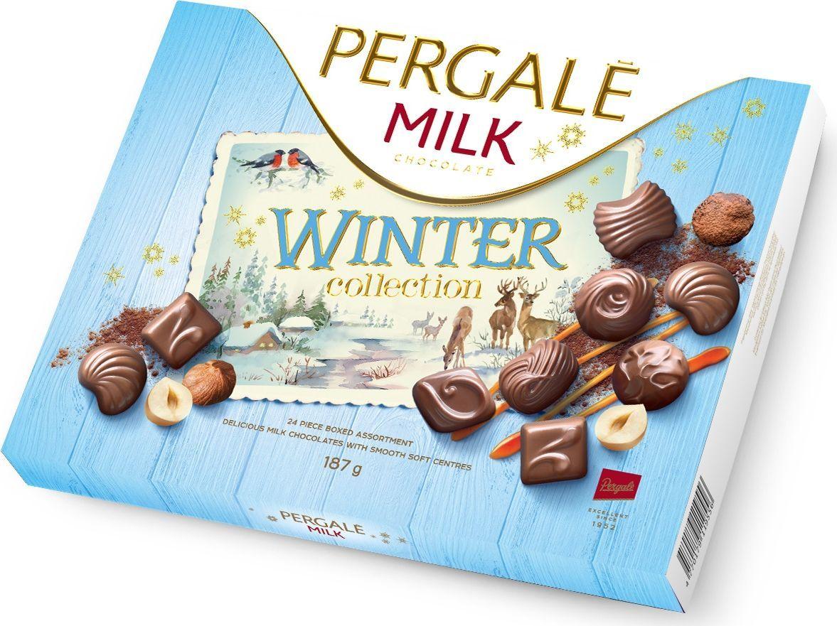 Pergale Winter Collection набор конфет из молочного шоколада, 187 г деткино шоколадные фигурки из молочного шоколада 135 г
