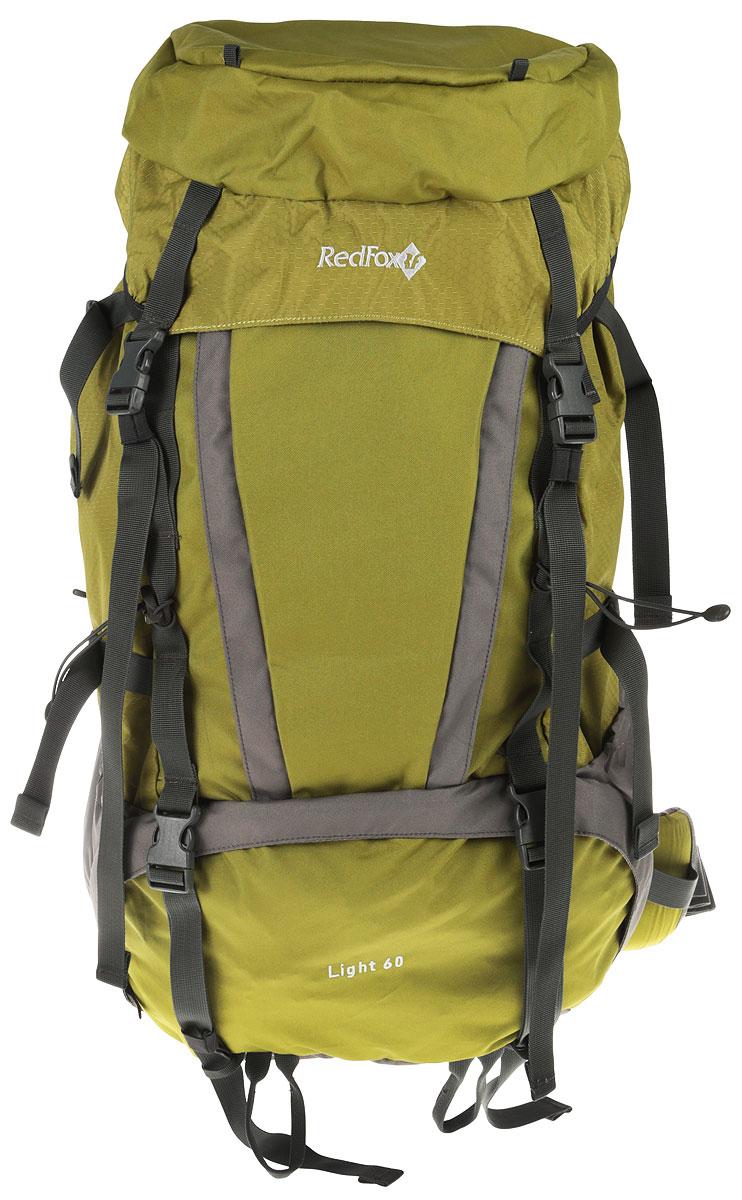 Рюкзак Red Fox Light V3, цвет: хаки, 60 л1054086Red Fox Light V3 - функциональный рюкзак для продолжительных походов. Рюкзак состоит из одного отделения, которое закрывается на шнурок-утяжку со стоппером и клапан с пластиковыми защелками. На полностью отстегивающемся клапане расположен карман на застежке-молнии. По бокам изделия имеются два открытых накладных кармана. Спереди расположен карман на молнии и дополнительный вход во внутреннее отделение. Рюкзак оснащен двумя удобными ручками (спереди и сзади) и широкими практичными лямками регулируемой длины. Лямки оборудованы грудной стяжкой и могут полностью сниматься. Высота посадки лямок по спинке регулируется (7 позиций). Особенности: - назначение: трекинг; - подвесная система Active; - съемный мягкий поясной ремень анатомической формы; - жесткая вставка в спинке; - съемный клапан с карманом на молнии; - две боковые компрессионные стяжки; - петли для крепления ледового снаряжения; - эластичная шнуровка на фронтальной панели рюкзака; - карманы с эластичной затяжкой в нижней части рюкзака. Материал: N210D Honey Comb, P450D; Объем, л: 60. Вес, г: 1850.Что взять с собой в поход?. Статья OZON Гид