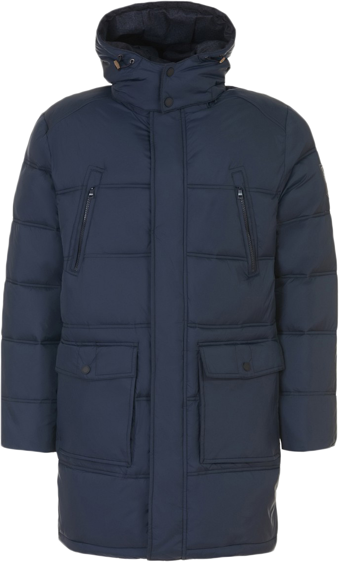 Куртка мужская Baon, цвет: синий. B537548_Deep Navy. Размер L (50)B537548_Deep NavyМужская куртка Baon выполнена из качественного материала. В качестве утеплителя используется полиэстер. Модель с капюшоном застегивается на молнию и кнопки.