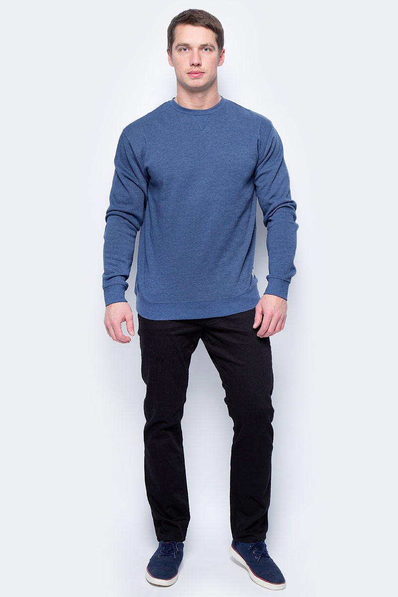 Свитшот мужской DC Shoes Rebel, цвет: синий. EDYFT03331-BSA0. Размер M (48)EDYFT03331-BSA0Свитшот от DC Shoes выполнен из хлопкового материала. Изнанка с начесом. Модель с длинными рукавами и округлым вырезом горловины.