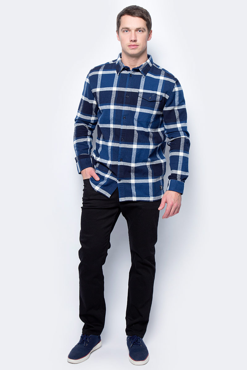 Рубашка мужская DC Shoes Marsha Flannel, цвет: синий. EDYWT03161-BSA0. Размер S (46) dc shoes рубашка dc shoes marsha flannel washed indigo fw17 m