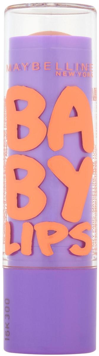 Maybelline New York Бальзам для губ Baby Lips, Персик, восстанавливающий и увлажняющий, с бежевым оттенком и запахом, 1,78 мл пудра maybelline new york maybelline new york ma010lwoex30