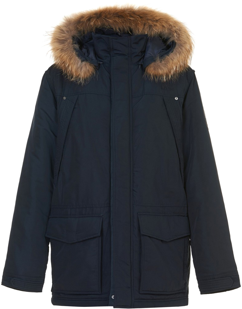 Куртка мужская Baon, цвет: синий. B537518_Deep Navy. Размер L (50) куртка мужская fresh brand цвет темно синий h3 df071 night blue размер l 50