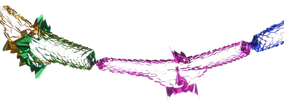 Гирлянда новогодняя Феникс-Презент Снежинки цветные, длина 350 см30956Новогодняя гирлянда Феникс-Презент Снежинки цветные прекрасно подойдет для декора дома или офиса. Украшение выполнено из ПЭТ (полиэтилентерефталата), легко складывается и раскладывается. Новогодние украшения несут в себе волшебство и красоту праздника. Они помогут вам украсить дом к предстоящим праздникам и оживить интерьер по вашему вкусу. Создайте в доме атмосферу тепла, веселья и радости, украшая его всей семьей.Серия новогодних украшений Magic Time принесет в ваш дом ни с чем не сравнимое ощущение праздника.