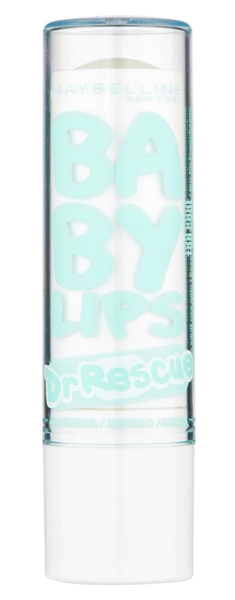"""Maybelline New York Бальзам для губ """"Baby Lips, Доктор Рескью"""", восстанавливающий и увлажняющий, Нежный Ментол, 1,78 мл"""