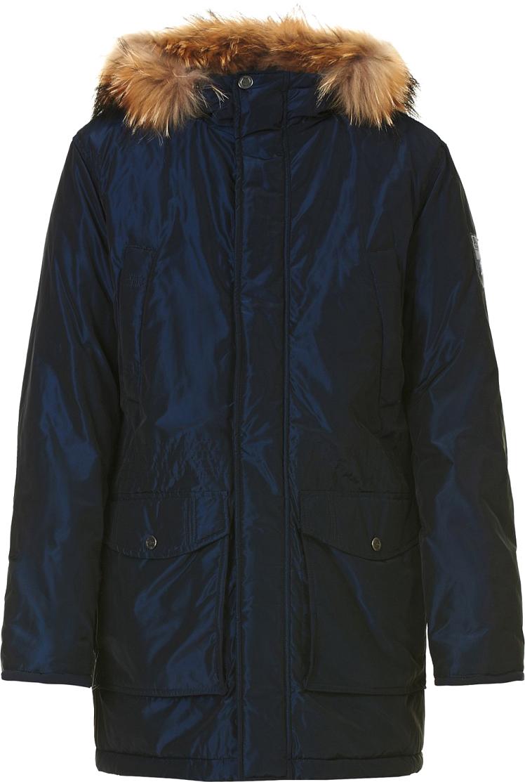 Куртка мужская Baon, цвет: синий. B537517_Deep Navy. Размер M (48)B537517_Deep NavyМужская куртка Baon выполнена из качественного материала. В качестве утеплителя используется полиэстер. Модель с капюшоном застегивается на молнию и кнопки.