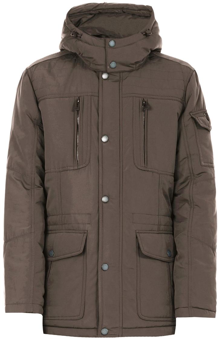 Куртка мужская Baon, цвет: коричневый. B537509_Wood. Размер XL (52) куртка мужская baon цвет коричневый b537509 wood размер xl 52