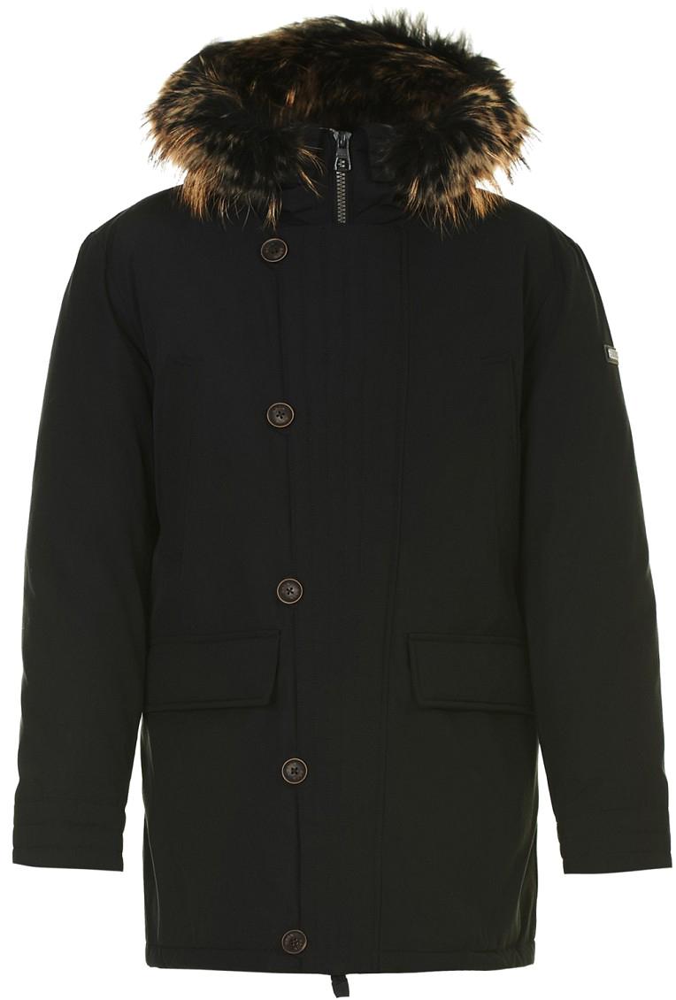 Пуховик мужской Baon, цвет: черный. B507532_Black. Размер L (50)B507532_Black