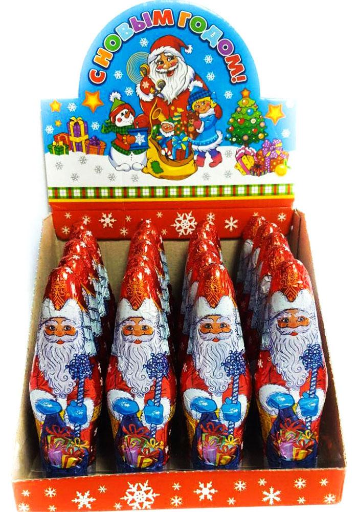 Дед Мороз полая фигура, 20 шт по 40 г сладкая сказка печенье дед мороз и снегурочка 400 г