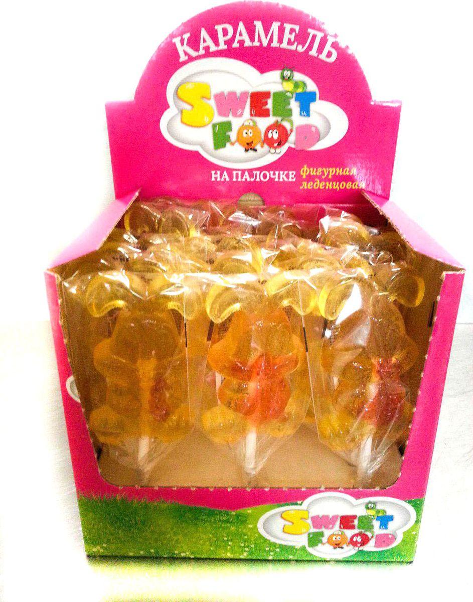 Sweet Food Зайчик карамель фигурная на палочке в шоубоксе, 18 шт по 80 г