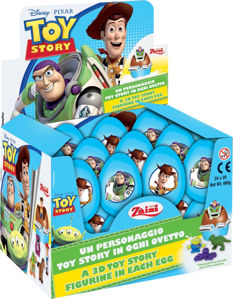 Disney История игрушек шоколадное яйцо с игрушкой, 24 шт по 20 г8004735032048Космический рейнджер Базз Лайтер снова попадает в небольшую передрягу. В этот раз хозяин – мальчишка по имени Энди, забыл Базза в магазине фаст-фуда и случайно обменял на другую игрушку – маленькую копию рейнджера. Базз попадает в анонимное общество забытых игрушек и выслушивает различные грустные истории. Игрушечный мир Энди начинает волноваться и ребята отправляются на поиски. К счастью, все завершится благополучно.Коробка состоит из 24 шоколадных яиц, каждое яйцо из натурального бельгийского шоколада, внутри сюрприз — игрушка и вкладыш с описанием героя. В коллекции представлено 8 разных коллекционных игрушек – героев мультфильма.Найди всех любимых героев мультсериала и собери коллекцию!