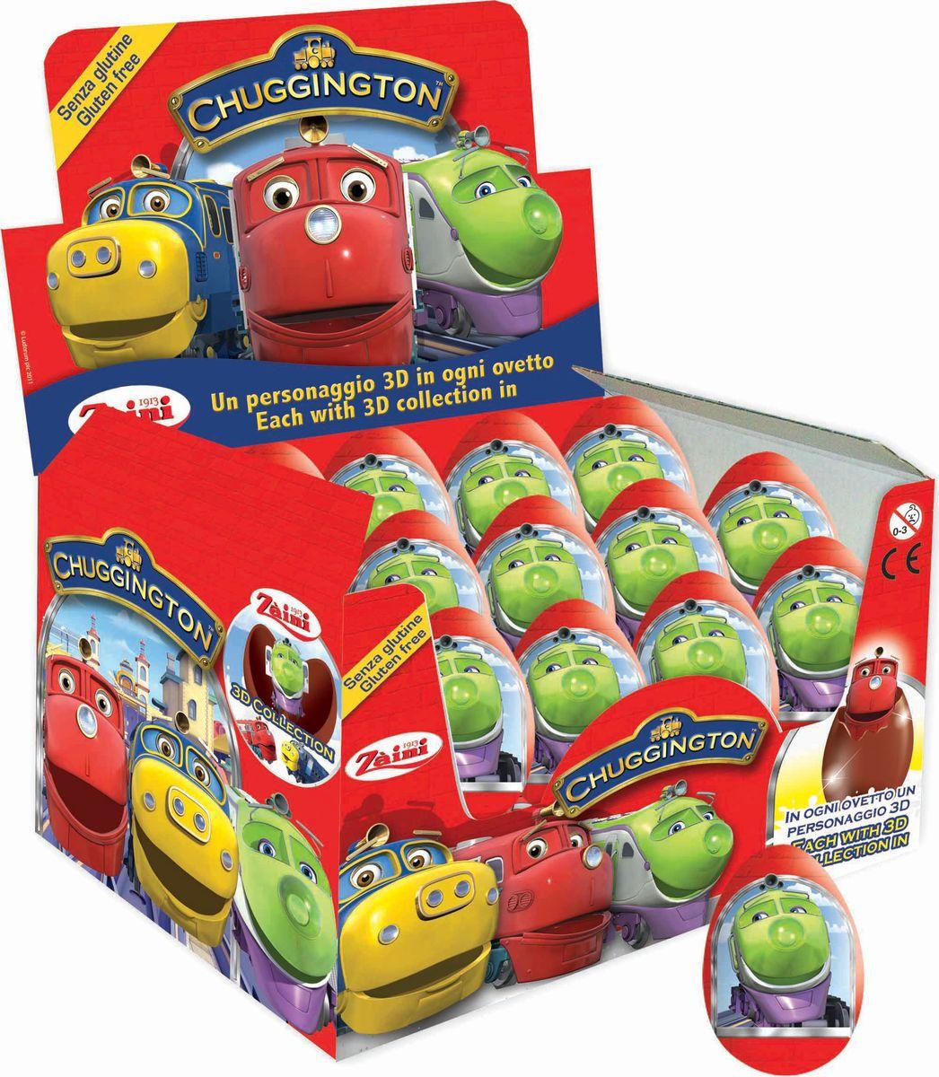 Паравозик Chuggington шоколадное яйцо с игрушкой, 24 шт по 20 г8004735069778Добро пожаловать в Чаггингтон - удивительный городок, населенный приветливыми паровозиками. Каждый день они узнают что-то новое, радуются открытиям и обожают приключения! Трое друзей - паровозики Коко, Уилсон и Брюстер - еще совсем малыши, под руководством опытных наставников они осваивают науку доставки грузов.Коробка состоит из 24 шоколадных яиц, каждое яйцо из натурального бельгийского шоколада, внутри сюрприз - игрушка и вкладыш с описанием героя. В коллекции представлено 8 разных коллекционных игрушек - героев мультфильма.Найди всех любимых героев мультфильма и собери коллекцию!