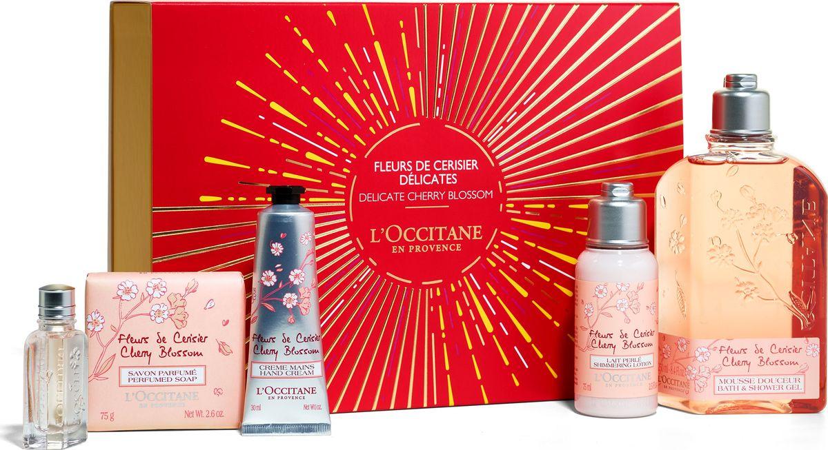 L`Occitane Набор Очаровательный Вишневый Цвет l occitane восхитительный бальзам для тела миндаль