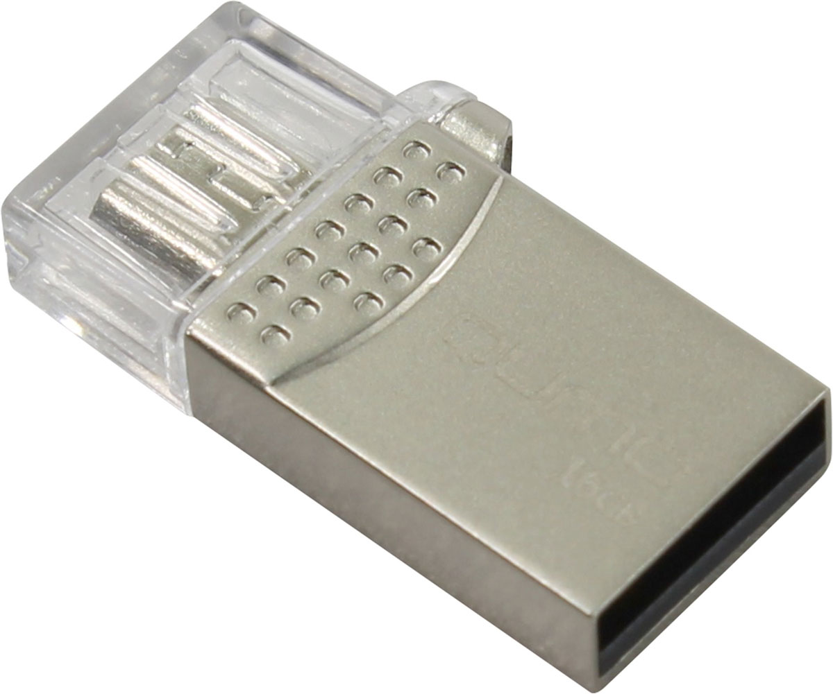 QUMO Keeper 16GB USB-накопитель22467QUMO Keeper - сделает вашу жизнь более динамичной и современной. Это ультра-современный флеш-накопитель с двумя коннекторами для подключения мобильных девайсов к компьютеру и ноутбуку через интерфейс USB 2.0. Данная модель обеспечит моментальный доступ к фильмам, фото или музыке без записи на память телефона\планшета.