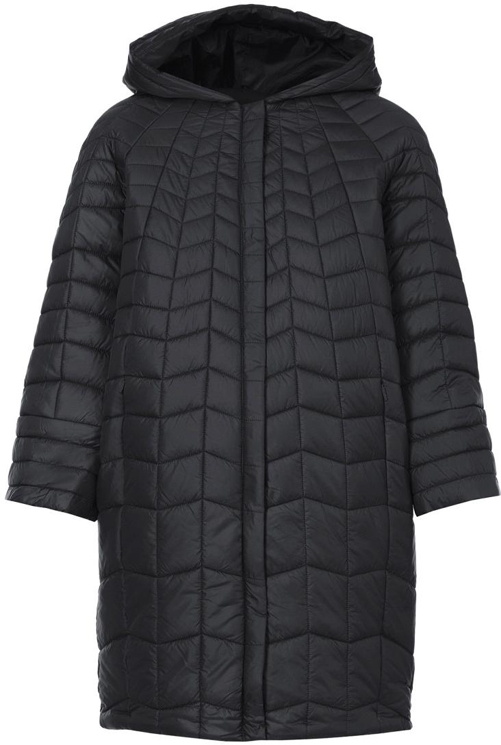 Пальто женское Baon, цвет: черный. B037548_Black. Размер S (44)B037548_BlackЖенское пальто Baon с длинными рукавами и капюшоном выполнено из полиэстера. Наполнитель - полиэстер.