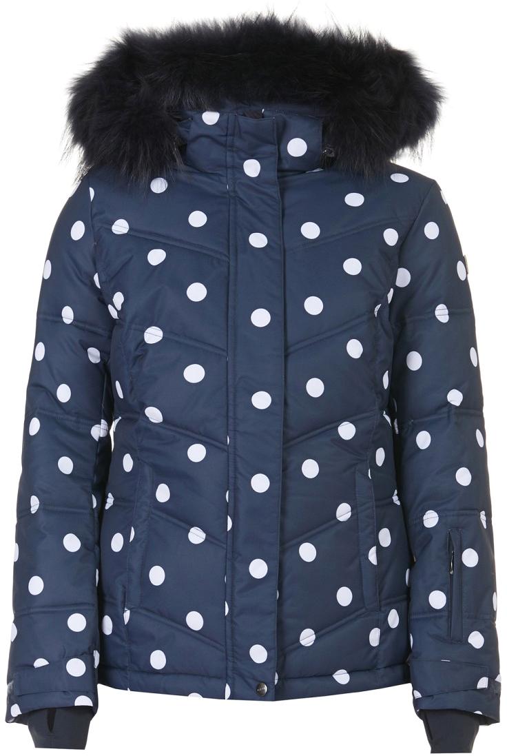 цены Куртка женская Baon, цвет: синий. B037901_Dark Navy Printed. Размер XL (50)