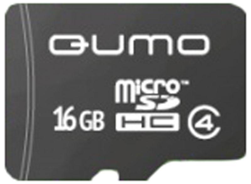 QUMO microSDHC Class 4 16GB карта памяти (без адаптера) microsdhc 64gb