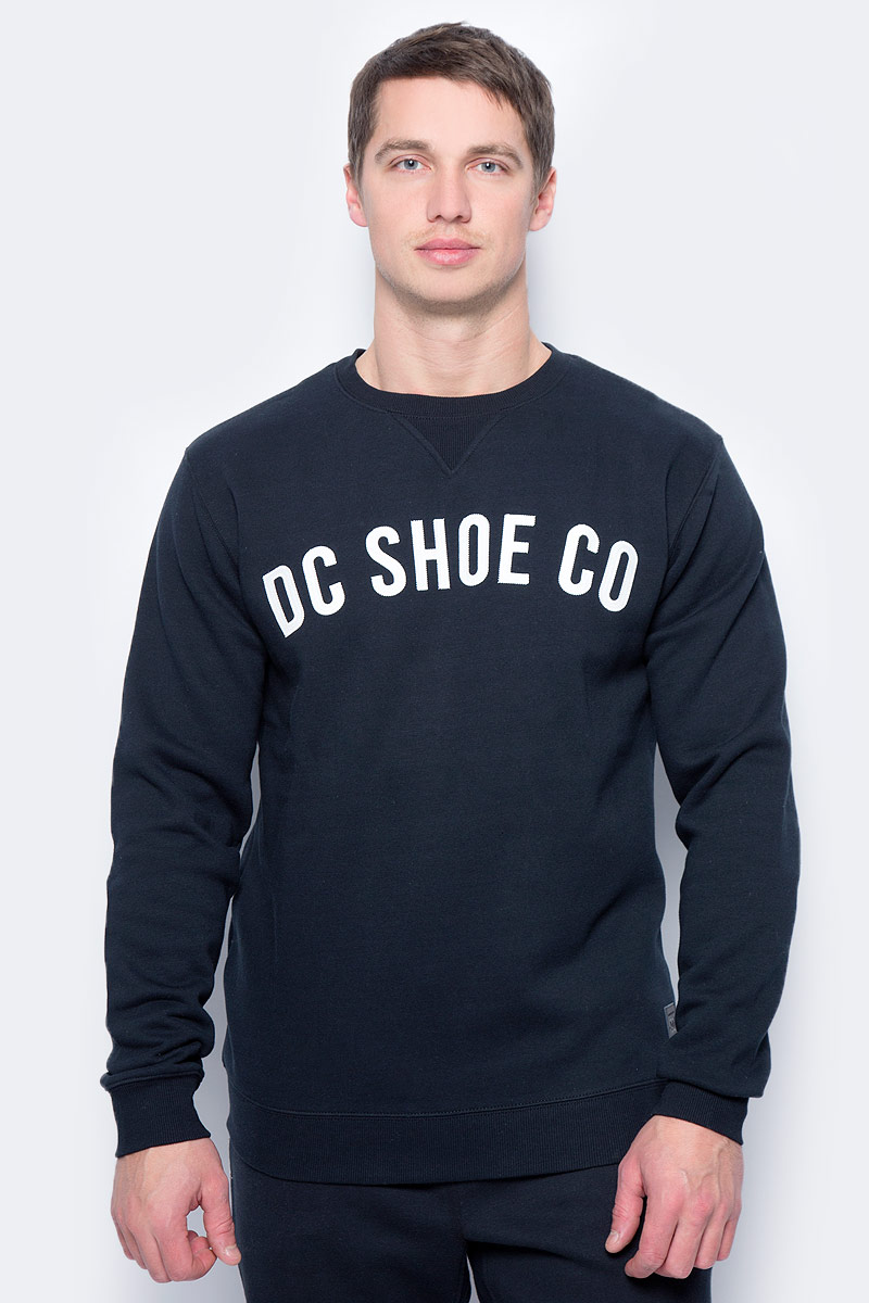 Свитшот мужской DC Shoes Ellis, цвет: черный. EDYFT03306-KVJ0. Размер XXL (54) dc shoes кеды dc shoes evan smith hi navy gold 9
