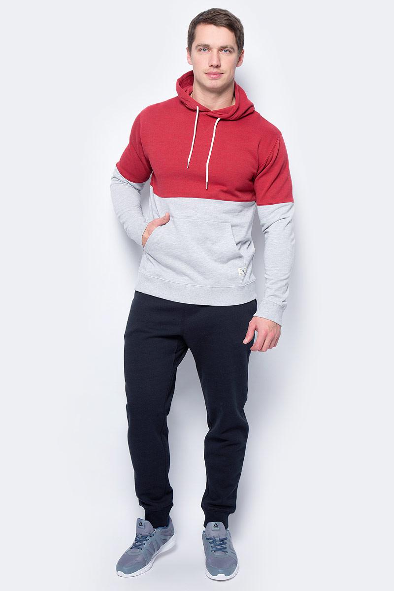Худи мужское DC Shoes, цвет: красный, светло-серый. EDYFT03270-RRD0. Размер XL (52/54)