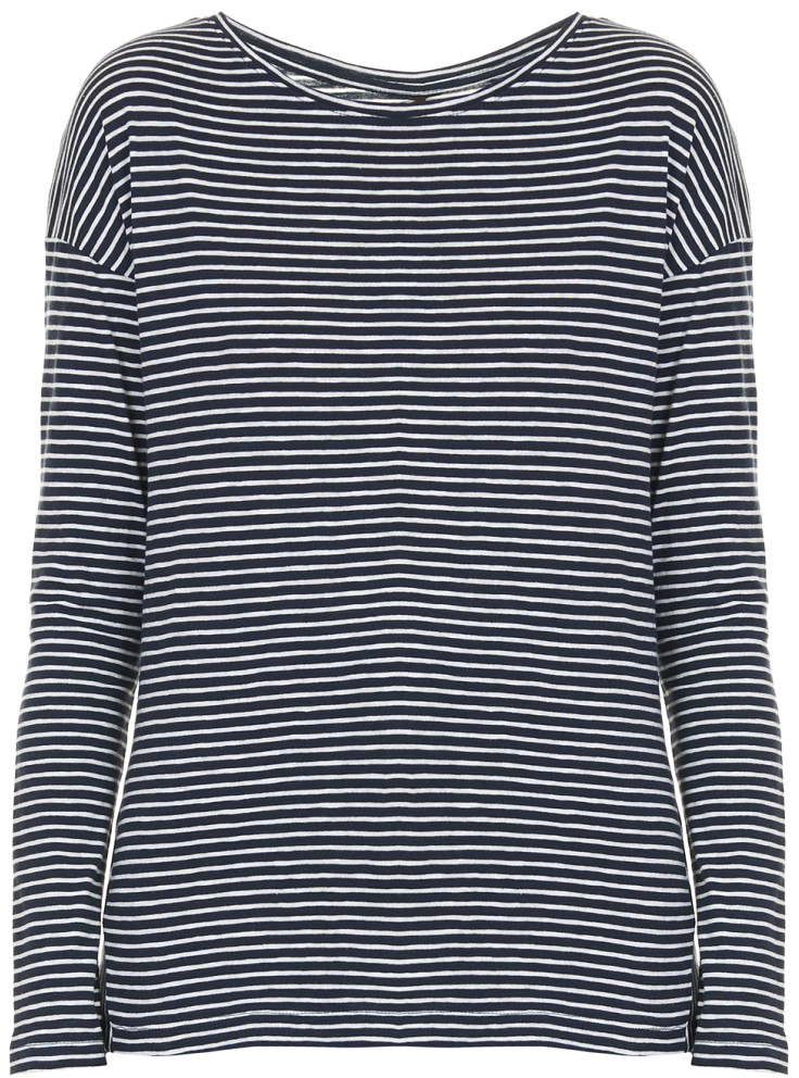 Футболка женская Baon, цвет: синий. B217507_Dark Navy Striped. Размер XS (42)B217507_Dark Navy Striped
