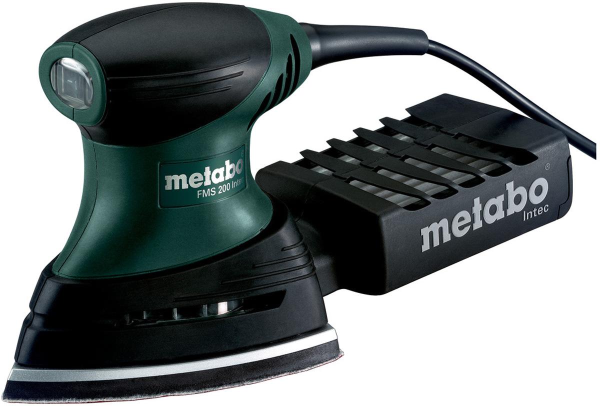 Шлифмашина вибрационная Metabo FMS 200 Intec600065500Вибрационная шлифмашина Metabo FMS 200 Intec предназначена для шлифования углов, ребер и плоских поверхностей. Система фильтрации Intec допускает многократную очистку. Пылезащищенные подшипники продлят срок службы инструмента. Резиновые накладки снижают уровень вибрации и увеличивают комфорт во время работы.Особенности:Легкий и удобный инструмент для работы одной рукой. Очень хорошее соотношение вес/мощность для работы с минимальной утомляемостью. Область возле рукоятки с нескользящей накладкой Softgrip. Пылесборная кассета с фильтром для работы без подключения пылесоса. Возможность пылеудаления путем подключения универсального пылесоса с адаптером (принадлежности).