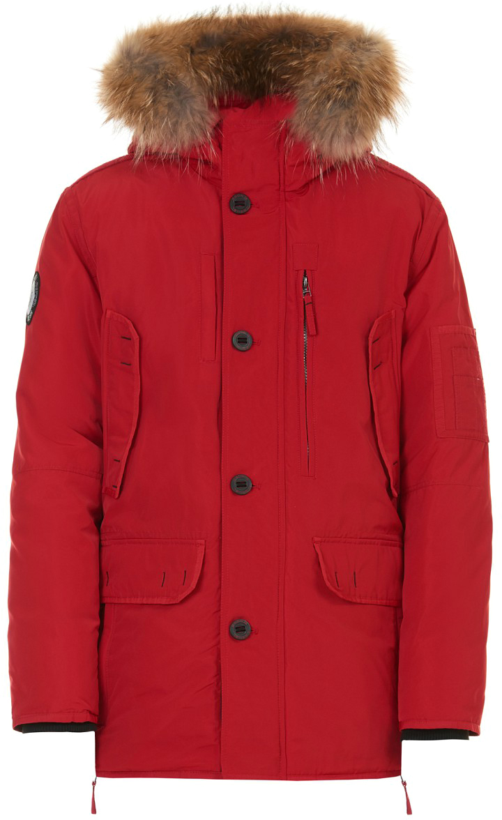 Пуховик мужской Baon, цвет: красный. B507519_Rubin. Размер XL (52) baon ba007ewloe45 baon