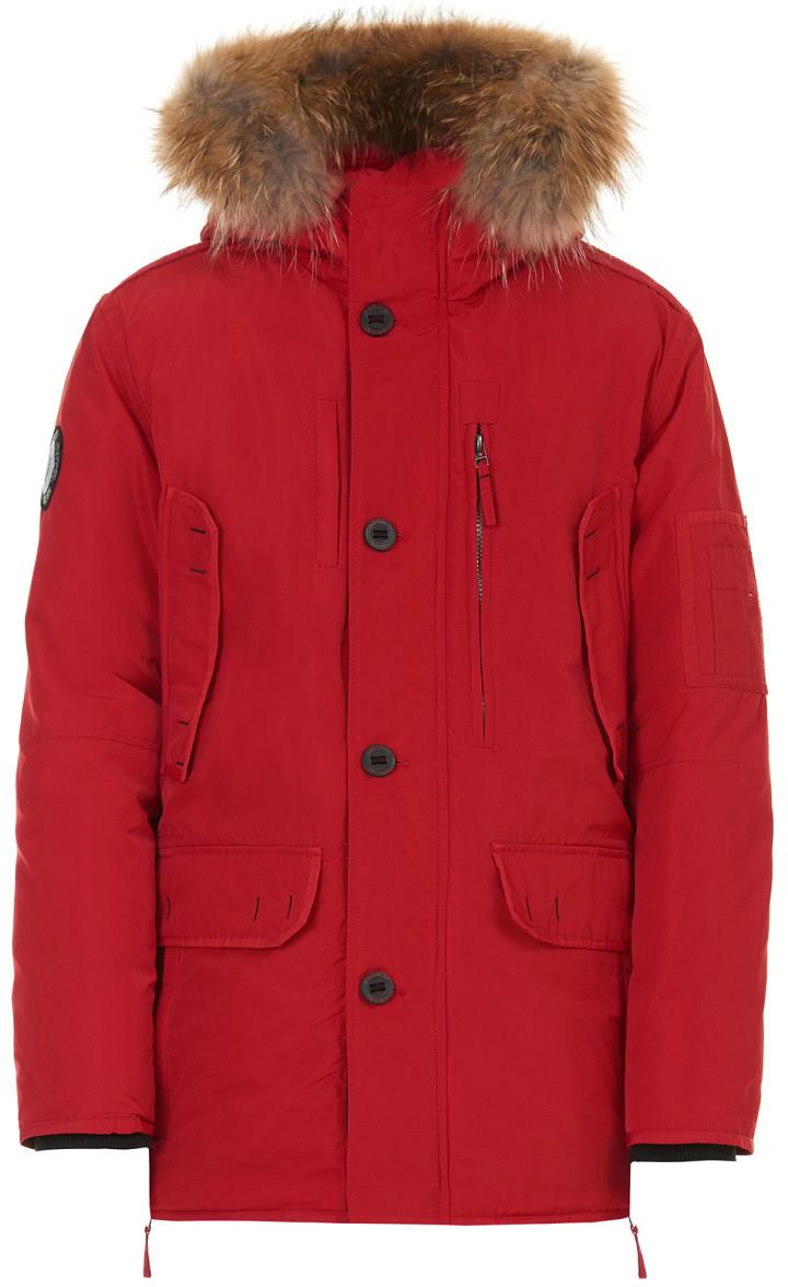 Пуховик мужской Baon, цвет: красный. B507519_Rubin. Размер L (50) дутики baon baon ba007awfyi22