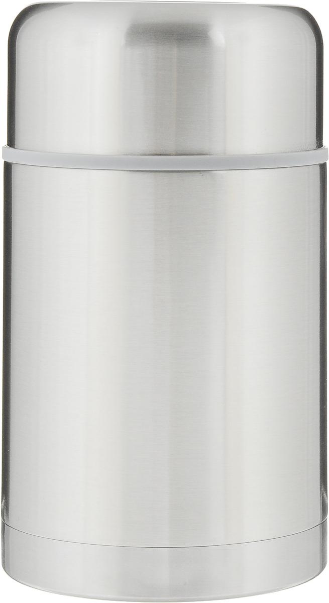 """Термос для еды """"Termico"""" сохраняет горячую пищу до 8 часов, а  холодную - до 24 часов. Термос выполнен из  высококачественной нержавеющей стали с матовой  полировкой и снабжен прочной колбой с теплоизоляцией.  Изделие закручивается пластиковой пробкой и сверху  закрывается крышкой с внутренним пластиковым покрытием.  Такой термос можно взять с собой на работу, в поездку, на  пикник.  Высота термоса: 19 см.  Диаметр горлышка: 8,5 см."""