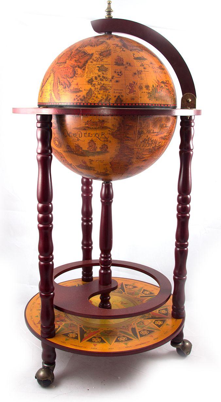 Бар декоративный Глобус, цвет: коричневый, 44 х 44 x 88 см бар декоративный глобус цвет коричневый 44 х 44 х 88 см 47068