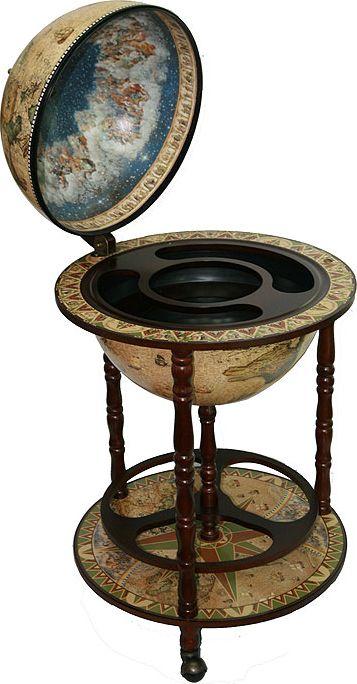 Бар декоративный Глобус. Карта странствий, цвет: коричневый, 50 х 50 х 90 см