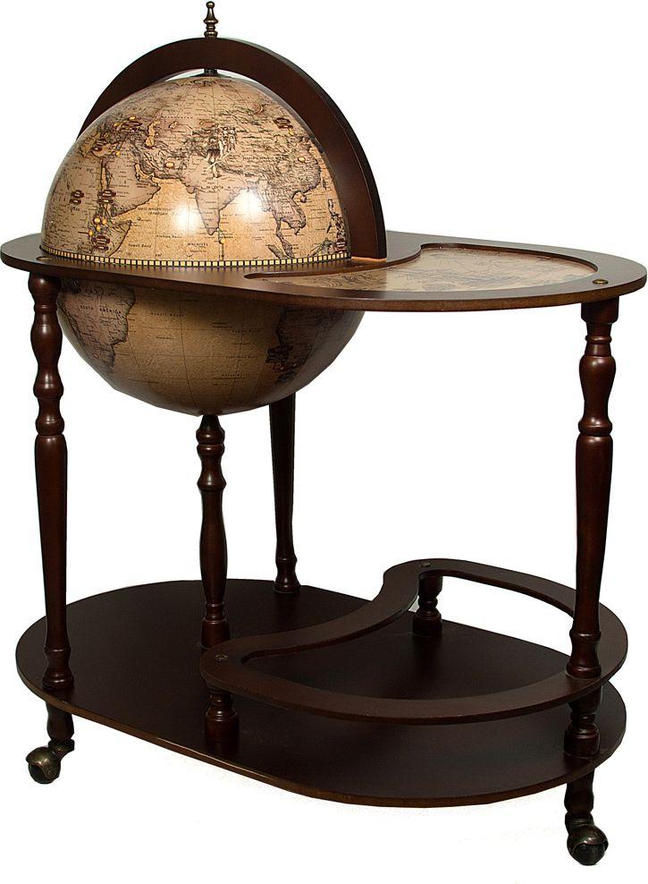 Бар декоративный Глобус, цвет: коричневый, 81 х 51 х 93 см бар декоративный глобус цвет коричневый 44 х 44 х 88 см 47068