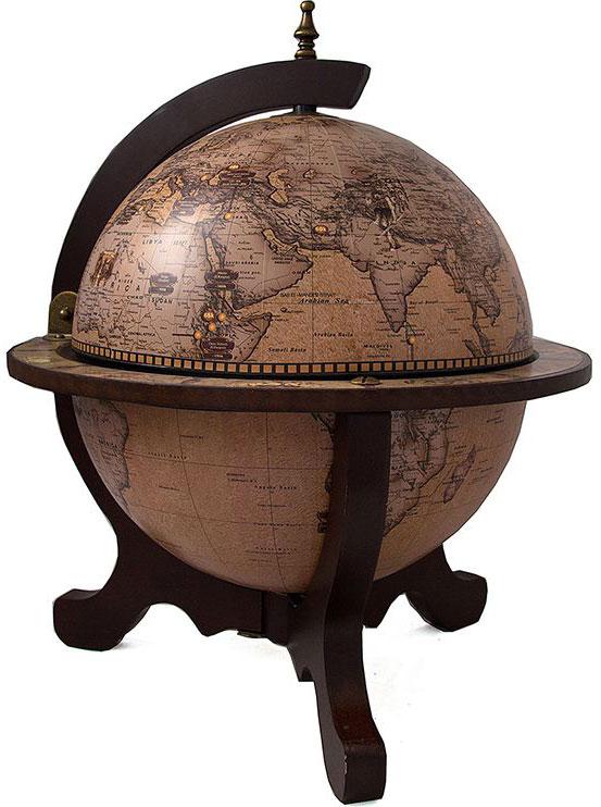Бар декоративный Глобус, цвет: коричневый, 40 х 40 х 50 см бар декоративный глобус цвет коричневый 44 х 44 х 88 см 47068