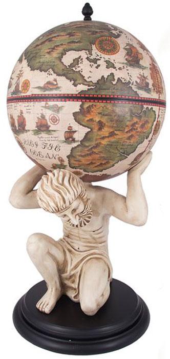 Бар декоративный Глобус, цвет: слоновая кость, 42 х 42 х 85 см. 47071