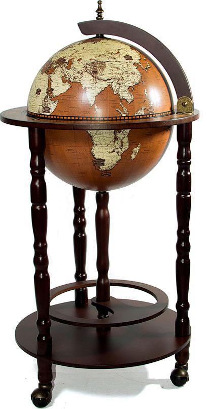 Бар декоративный Глобус, диаметр глобуса 33 см, 44 х 44 х 88 см47075Бар декоративный Глобус - это предмет интерьера, в виде глобуса, представляет собой мини-бар для хранения бутылок с алкогольными напитками и бокалов.