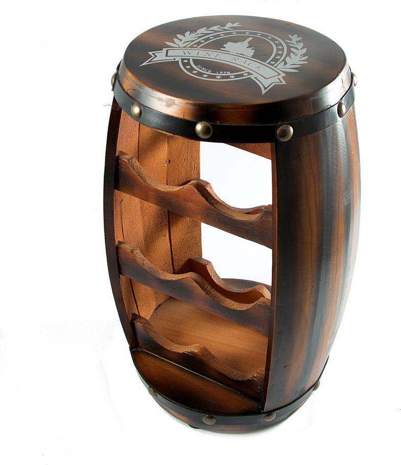 Бар декоративный Мини, 22 х 22 х 41 см57115Мини-Бар это предмет иньерьера, в виде бочки, представляет собой мини-бар для хранения бутылок с алкогольными напитками и бокалов.