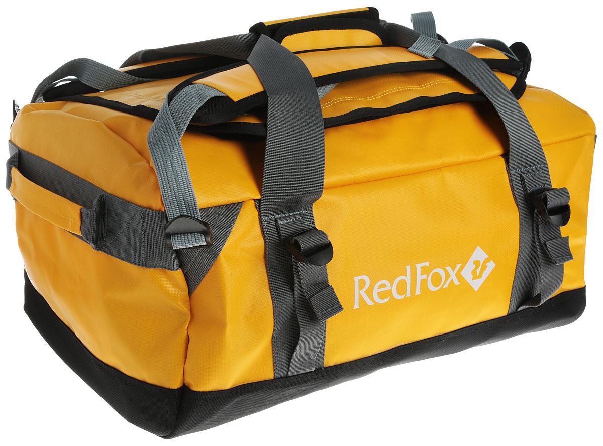 Баул Red Fox Expedition Duffel Bag, цвет: желтый, 30 л1048216Баул Red Fox Expedition Duffel Bag - это надежный баул для транспортировки большого количества вещей во время экспедиций и путешествий. Баул изготовлен из плотного нейлона и состоит из одного отделения. Доступ в отделение происходит через клапан, закрывающийся на молнию. Внутри отделения расположены два открытых боковых накладных кармана. Клапан с внутренней стороны дополнен карманом-сеткой на застежке-молнии. В верхней части сумки имеется прозрачное окошко для карточки с данными владельца. Сумка оснащена двумя короткими боковыми ручками, двумя длинными ручками и двумя лямками. Лямки отстегиваются, регулируются по длине и дополнены уплотнителями. Особенности: - большой клапан на молнии для доступа в основное отделение; - четыре ручки; - отстегивающиеся лямки; - центральные ручки соединяются клапаном с застежкой-велкро; - боковые стяжки.Назначение: экспедиции.Материал: 1000D PVC coated Nylon.Объем, л: 30.Вес, г: 2350.